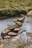 Stepping Stones Across An Irish River