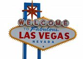 stock photo of las vegas casino  - Las Vegas Strip Sign with White Background - JPG