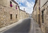 a street of an ancient Spanish village