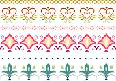 Border Illustration Featuring Different Floral Designs