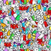 Graffiti characters pattern