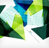 3d geometric shape abstract futuristic background, layout, poster or brochure design