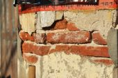 Decay Brick House Wall Paper