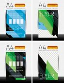 Abstract modern flyer brochure design templates collection with sample text or business A4 booklet c