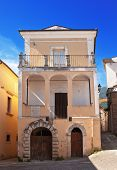 Alleys and houses in Tocco da Casauria, Abruzzo region, Italy