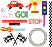 The Car Race Vector Pack