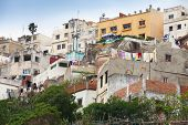 Traditional Living Houses Of Old Medina. Tangier, Morocco