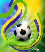 vector background on 2014 soccer brasil