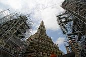 The Restoration Repairs A Temple Wat Arun