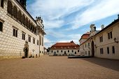Castle courtyard in Litomysl, Czech Republic