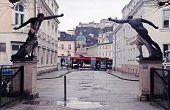 Statue In Mirabell Garden In The Salzburg, Austria