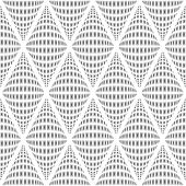 Design Seamless Monochrome Warped Diamond Pattern