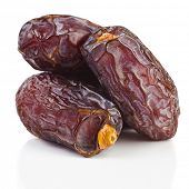 fresh dates isolated on white background