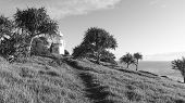 Fingal Head Lighthouse. Black and White