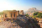 Jodhpur India - Jaswant Thada mausoleum and fort