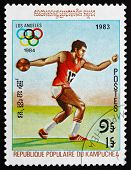 Postage Stamp Cambodia 1983 Discus Throw