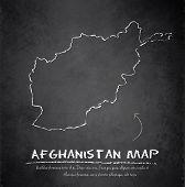 Afghanistan map blackboard chalkboard vector