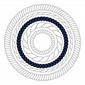 Round rope elements, frames, borders