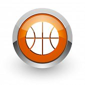 ball orange glossy web icon