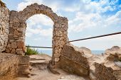 Ancient Arch In Fortress On Kaliakra Headland, Bulgarian Black Sea Coast