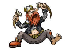 picture of debauchery  - Illustration a cartoon viking - JPG