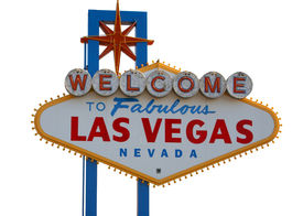 picture of las vegas casino  - Las Vegas Strip Sign with White Background - JPG