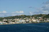St Kitts Coasline In The Caribbean