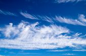 Soft White Clouds On Blue Sky