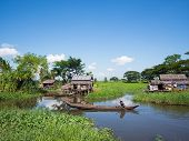 Rural Scene In Maubin, Myanmar