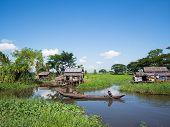 Rural Scene In Maubin, Myanmar