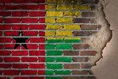 Dark Brick Wall With Plaster - Guinea Bissau