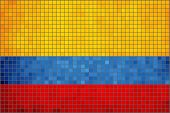 Mosaic Flag of Colombia