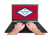 Hands Working On Laptop, Arkansas