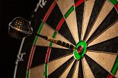 picture of  eyes  - Success hitting target aim goal achievement concept background  - JPG