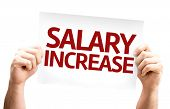 Salary Increase card isolated on white background