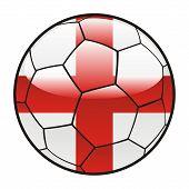 flag of England on soccer ball