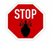 stock photo of lice  - Detailed and colorful illustration of stop sign for lice - JPG