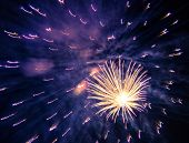 foto of new year 2014  - Big Blue Firework - JPG