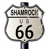 Shamrock Route 66 Sign