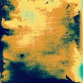 Old, grunge background or ancient texture. With different color patterns: blue; cyan; yellow (beige); brown; green