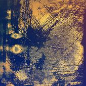 Old antique texture or background. With different color patterns: blue; yellow (beige); brown; purple (violet)