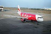 Bangkok, Thailand - Circa Jan 2014: Airliner Air-asia Airbus A320-214 At Bangkok Airport