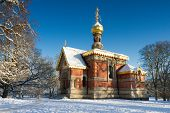 Russian Chapel In The Snow