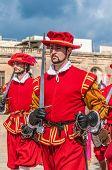 In Guardia Parade At St. Jonh's Cavalier In Birgu, Malta.
