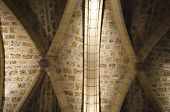 image of church interior  - Detail of a Romanesque church interior in Leon - JPG