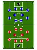 Soccer Teams Formation Circles