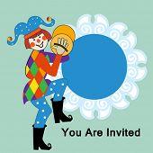 Clown Invitation Placard