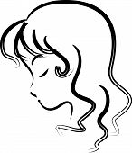 vector drawing woman face