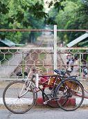 Cyclo In Yangon, Myanmar