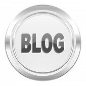 blog metallic icon